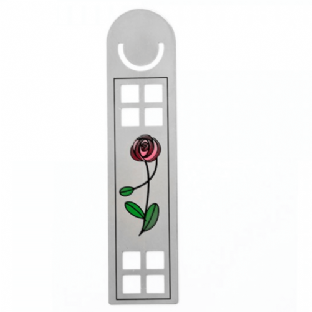 Mackintosh Lattice Red Rose Bookmark
